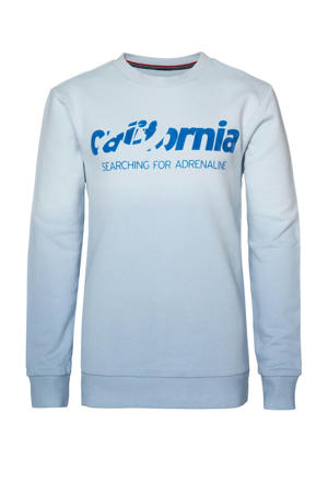 dip-dye sweater lichtblauw