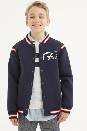 vest met logo marine/roze