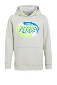 Petrol Industries hoodie met logo lichtgrijs, Lichtgrijs