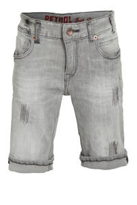 Petrol Industries regular fit jeans bermuda Blizzard light grey, Light Grey