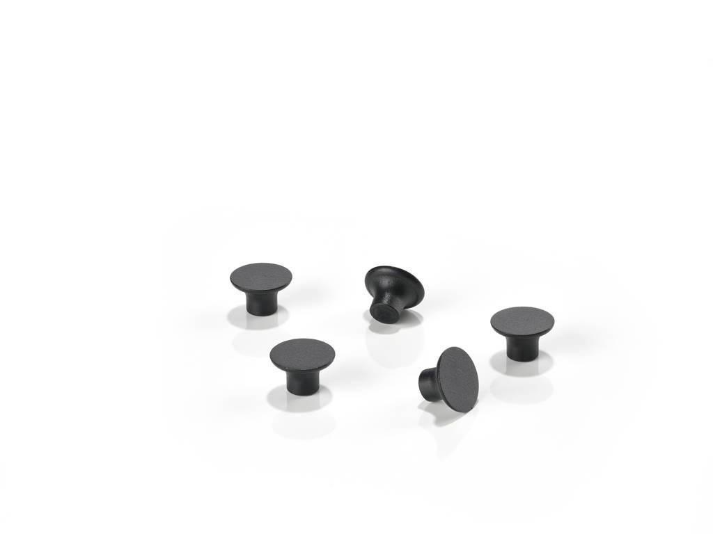 Zone magneten (set van 5), Zwart