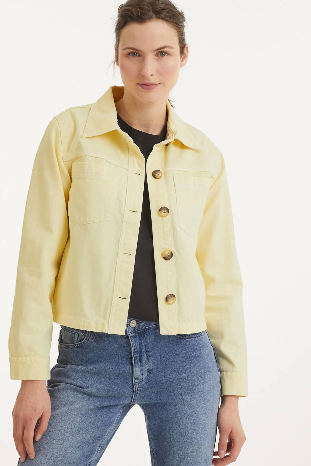 Denim Hunter jasje DHKira Jacket met biologisch katoen lichtgeel, Lichtgeel