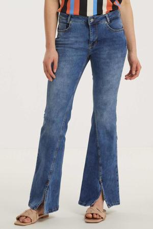 flared jeans DHCille Slit bootcut custom medium blue wash