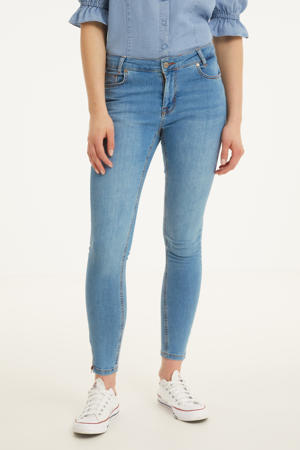 high waist skinny jeans DHCillezip Custom light blue wash