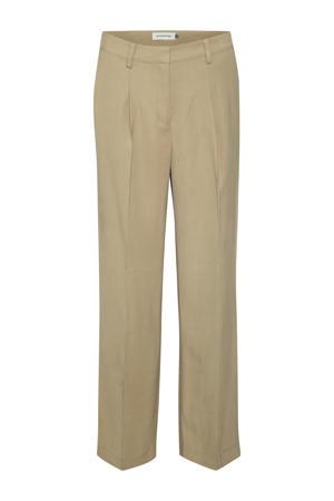 high waist loose fit broek DHLouisa Pant beige