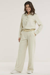 Denim Hunter blouse Louisa beige, Beige
