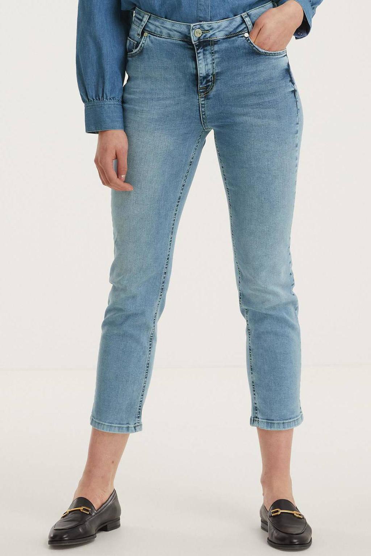 Denim Hunter cropped high waist straight fit jeans DHCelina High Straight Custom 100045 light blue wash, 100045 Light Blue Wash