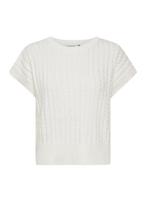 gebreide kabeltop DHLula Knit vest wit