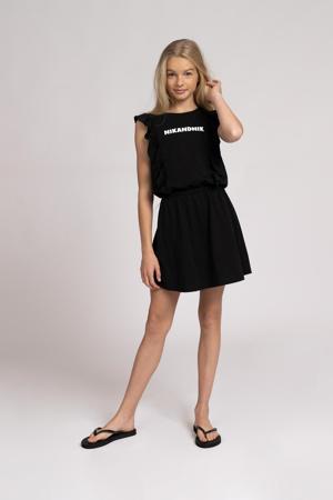 jurk Ziara met logo zwart