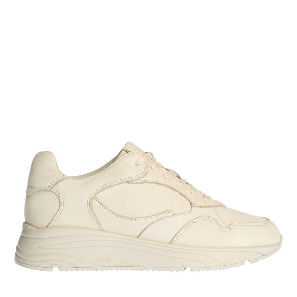 Manfield   chunky nubuck sneakers ecru, Ecru/beige