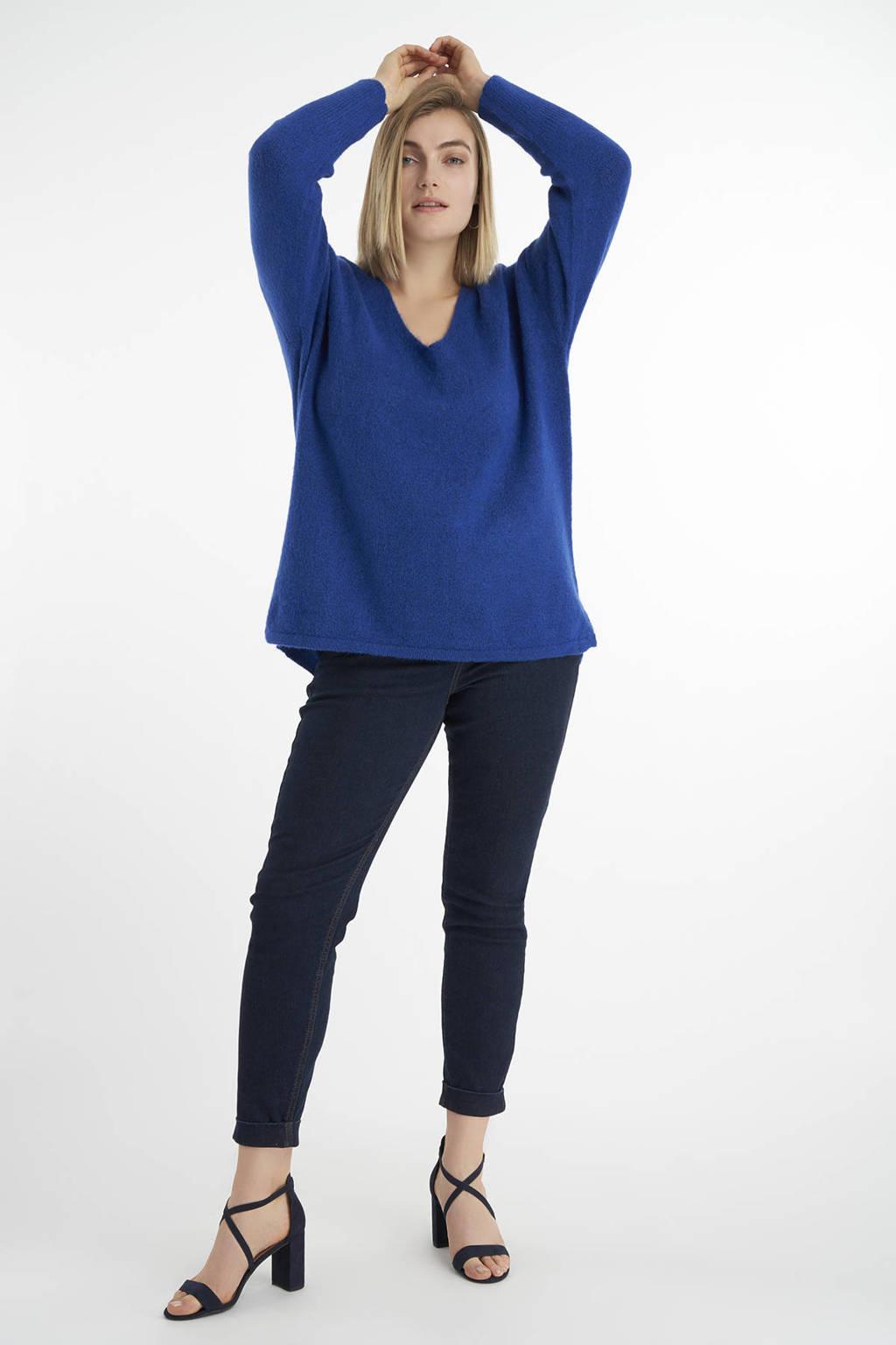 MS Mode gemêleerde trui blauw, Blauw
