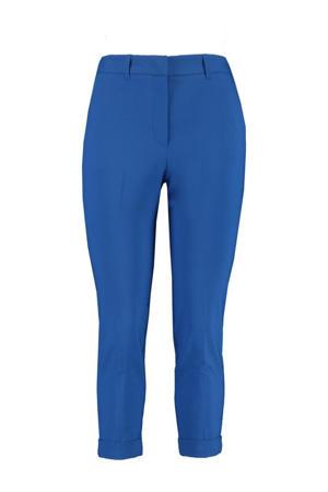 cropped slim fit broek blauw