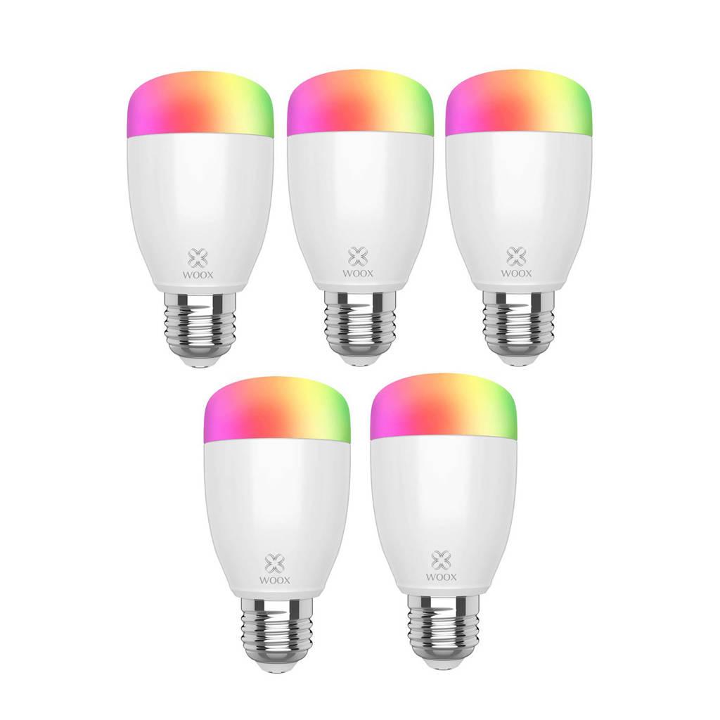 WOOX R5085 Diamond slimme LED-lamp 5-pack, Wit