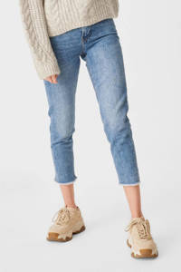 C&A Clockhouse cropped high waist mom jeans light denim stonewashed, Light denim stonewashed