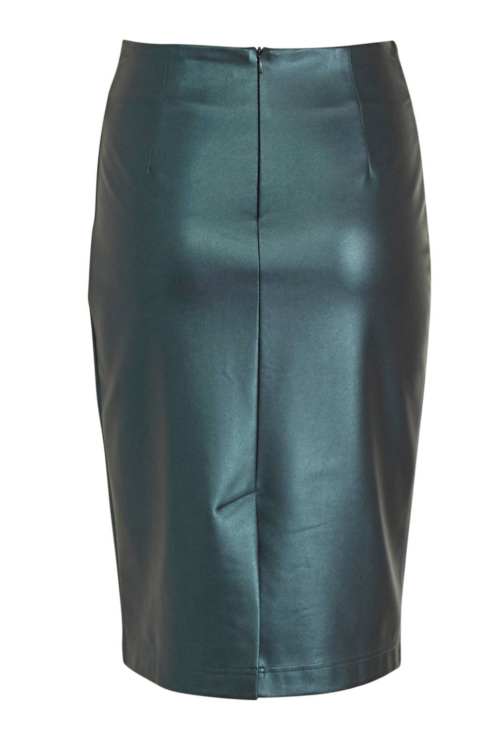C&A Yessica coated rok groenblauw metallic, Groenblauw metallic