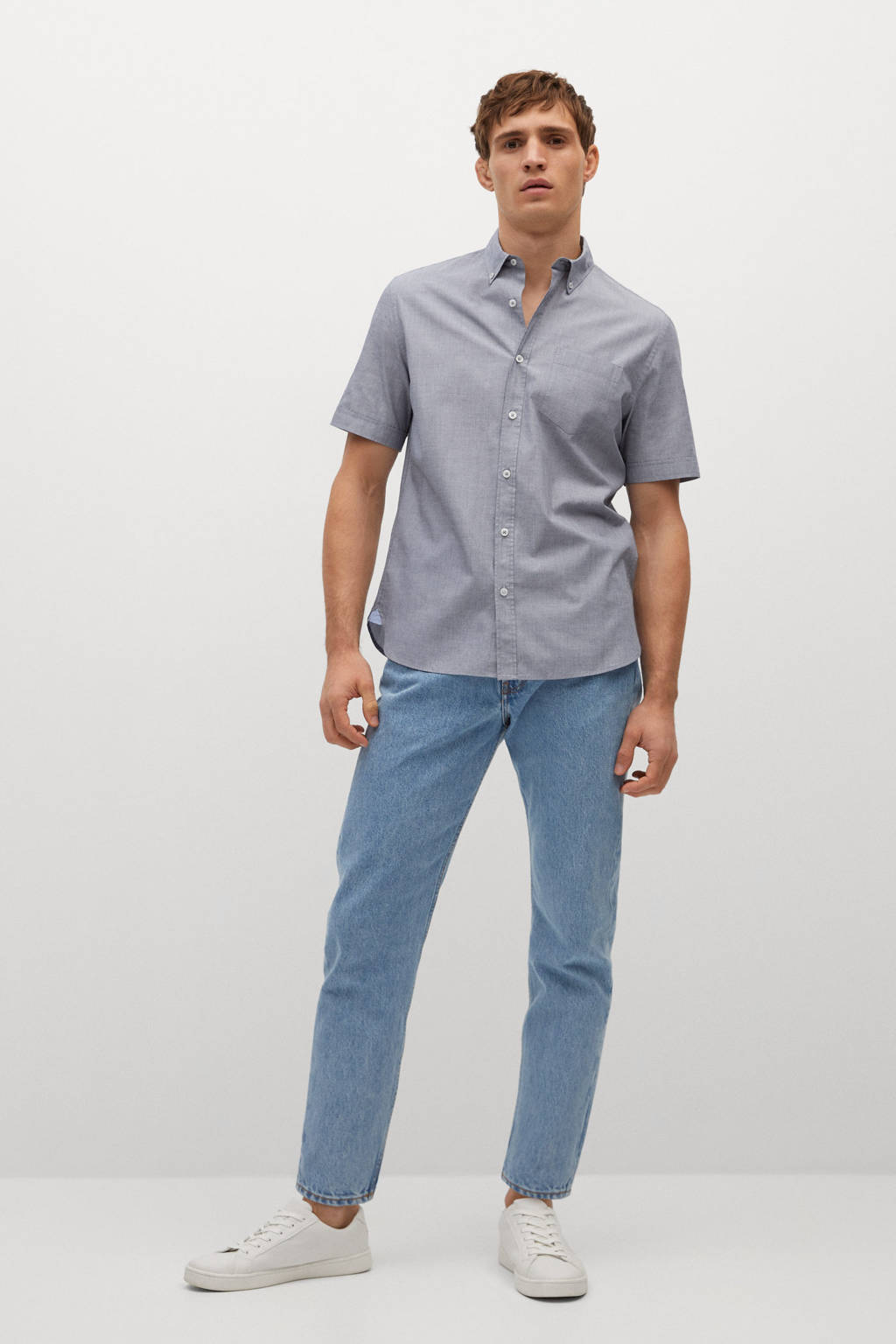 Mango Man regular fit overhemd marine, Marine