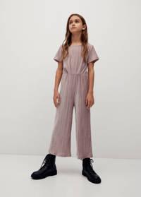 Mango Kids fluwelen jumpsuit pastelroze, Pastelroze