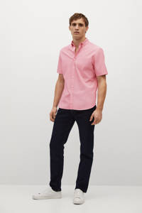 Mango Man regular fit overhemd roze, Roze