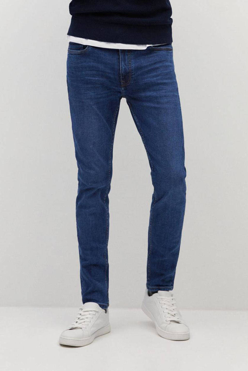 Mango Man slim fit jeans dark denim, Dark blue denim