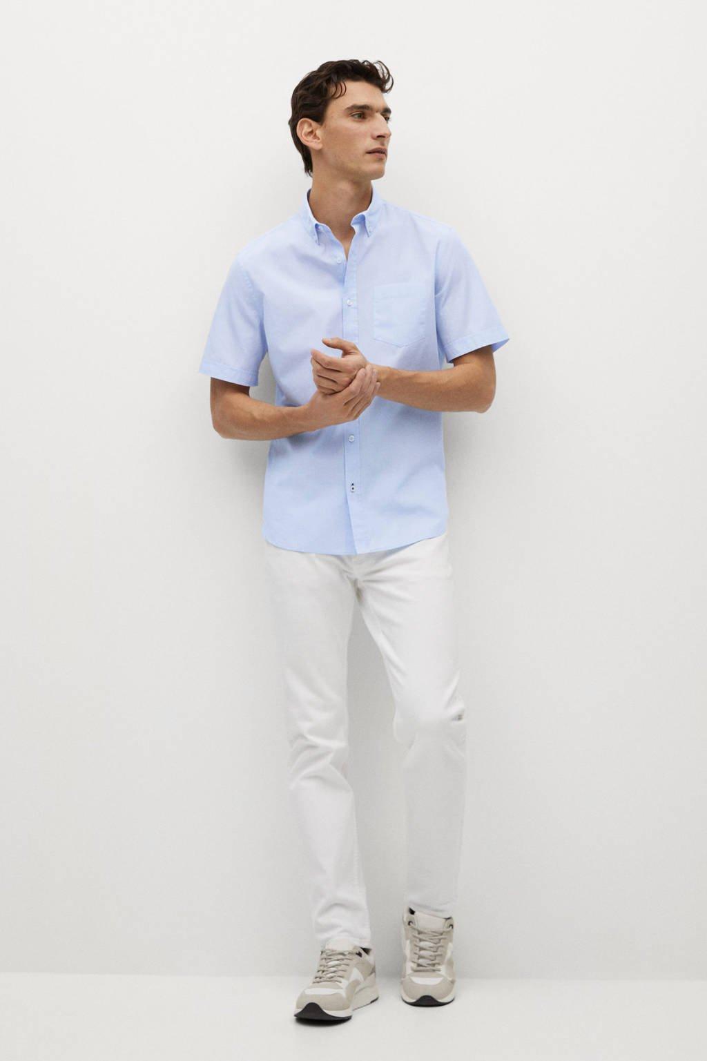 Mango Man regular fit overhemd lichtblauw, Lichtblauw