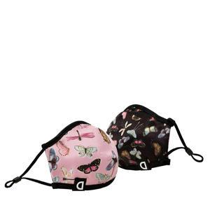 kids reversible mondkapje roze/zwart