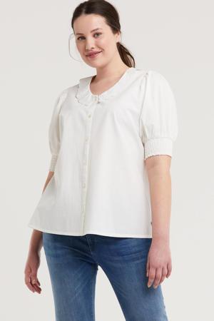 blouse SALA 273 van biologisch katoen wit
