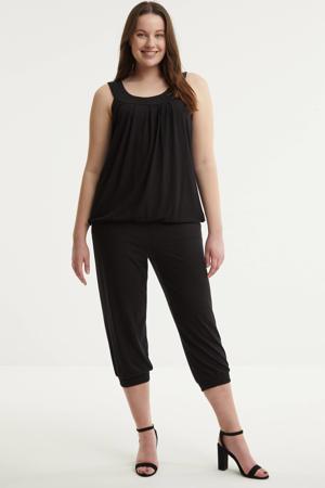 high waist loose fit capri DAPHNE 272 zwart