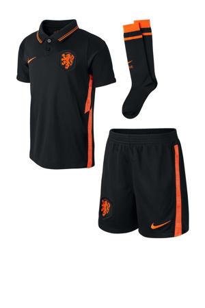 Junior Nederland voetbalset zwart/oranje