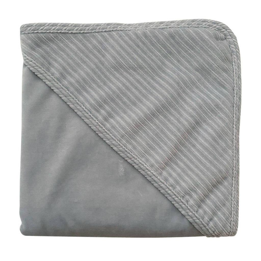 Witlof for kids wikkeldoek corduroy 80x80 cm grijs, Grijs