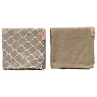 Witlof for kids swaddle/hydrofiele doek Once upon a dream - set van 2 80x80 cm zand, Beige