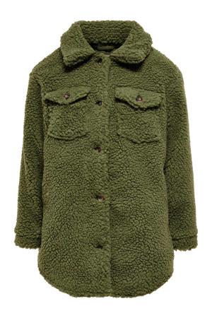 teddy shacket tussenjas Camilla groen