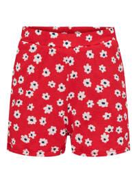 KIDS ONLY sweatshort Pella met all over print rood/wit/zwart, Rood/wit/zwart