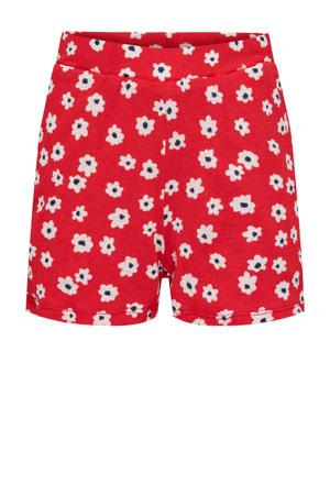 sweatshort KONPELLA met all over print rood/wit/zwart