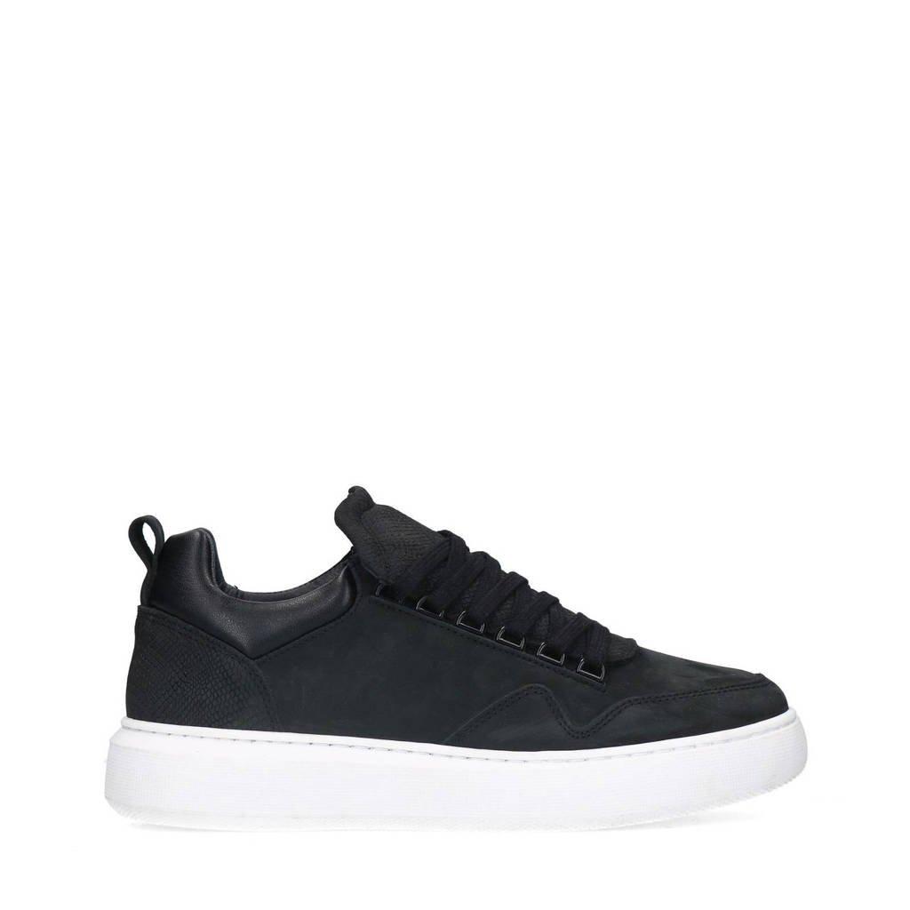 Sacha   nubuck sneakers zwart, Zwart