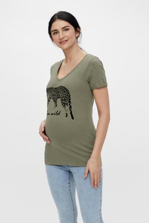 zwangerschapsshirt Hanna met biologisch katoen groen