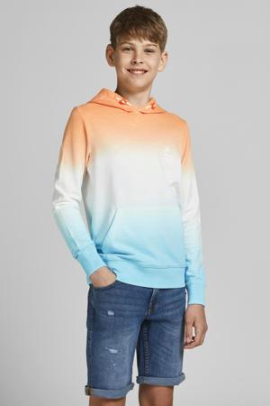 dip-dye hoodie Aloha oranje/wit/lichtblauw