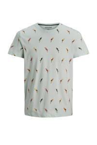 JACK & JONES JUNIOR T-shirt Playa met all over print lichtblauw, Lichtblauw