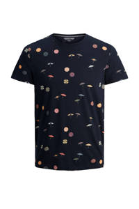 JACK & JONES JUNIOR T-shirt Playa met all over print donkerblauw, Donkerblauw