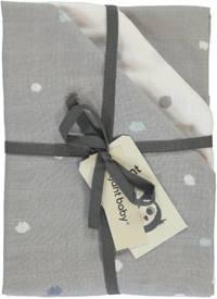 Briljant Baby Sunny hydrofiele luier stip - set van 3 70x70 cm grijs/wit, Grijs/wit