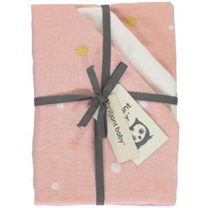 Sunny hydrofiele luier stip - set van 3 70x70 cm roze/wit