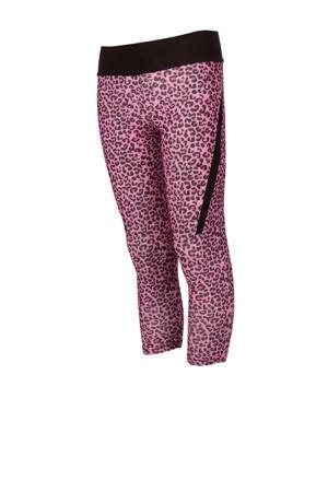 sportcapri panterprint roze/zwart