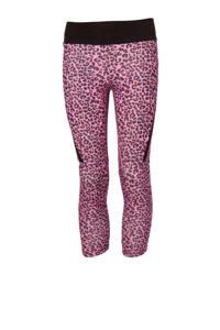 Papillon sportcapri panterprint roze/zwart, Roze/zwart