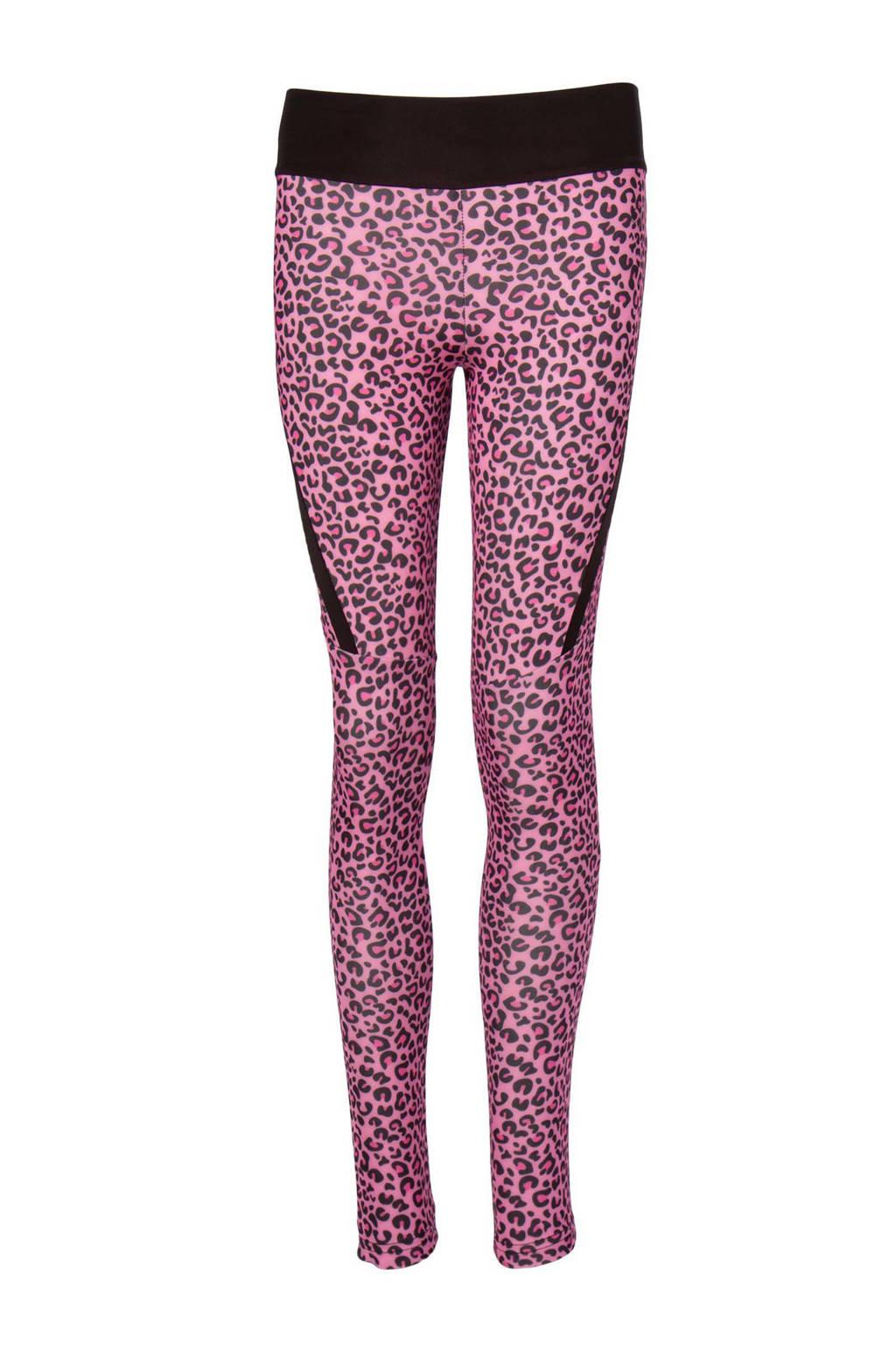 Papillon sportlegging panterprint roze/zwart, Roze/zwart