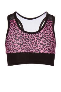 Papillon sporttop roze/zwart, Roze/zwart