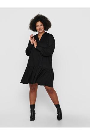blousejurk met volant zwart