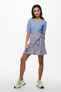 JACQUELINE DE YONG fijngebreide trui met plooien lichtblauw, Lichtblauw