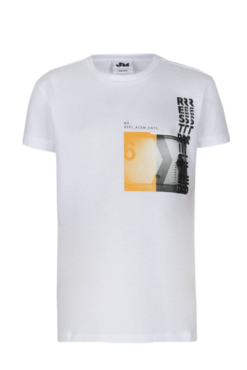 Jill & Mitch by Shoeby T-shirt Lucas met printopdruk wit, Wit