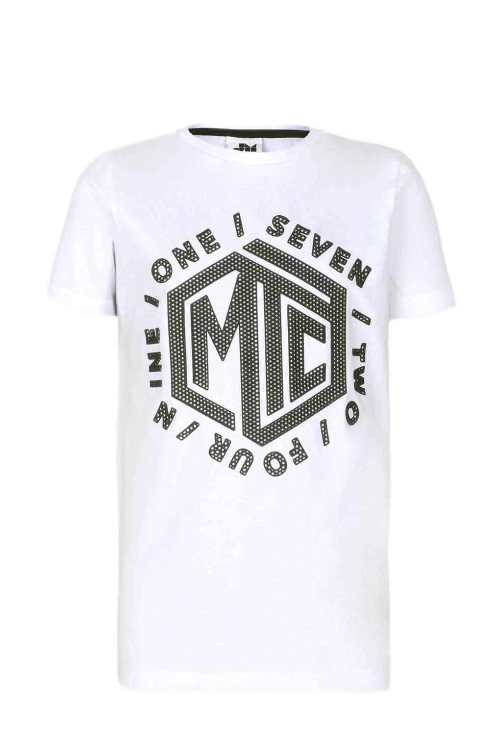 Jill & Mitch by Shoeby T-shirt Lex met printopdruk wit, Wit