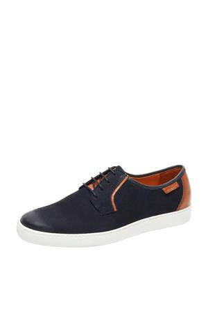 Quatro  nubuck sneakers donkerblauw