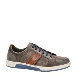 Eddy  leren sneakers grijs